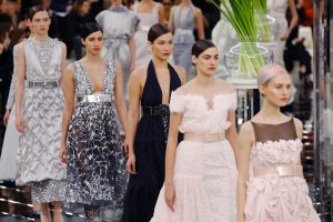 Models present creations for Chanel during the 2017 spring/summer Haute Couture collection on January 24, 2017 in Paris. (PATRICK KOVARIK/AFP/Getty Images)
