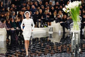 A model presents a creation for Chanel during the 2017 spring/summer Haute Couture collection on January 23, 2017 in Paris. (PATRICK KOVARIK/AFP/Getty Images)